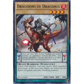 SECE-EN000 Dragoons of Draconia Rare Pendulum Monster