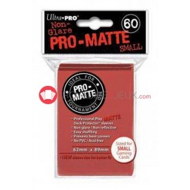 60 Pochettes Promatte - Sleeves Ultra-pro Mini Yugioh Rouge / Red