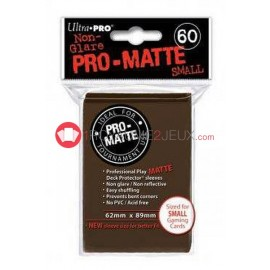 60 Pochettes Promatte - Sleeves Ultra-pro Mini Yugioh Marron / Brown