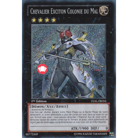 LVAL-FR056 Chevalier Exciton Colonie du Mal Secret Rare