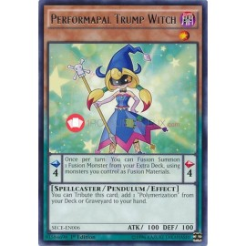 SECE-EN006 Performapal Trump Witch Rare Pendulum Monster