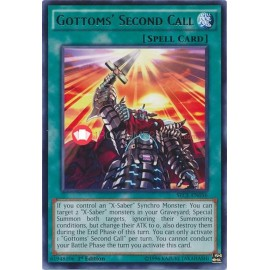 SECE-EN056 Gottoms Second Call Rare Normal Spell Card