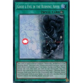 SECE-EN086 Good & Evil in the Burning Abyss Super Rare Ritual Spell Card