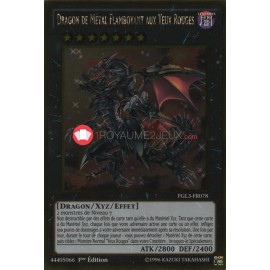 PGL3-FR078 Dragon de Métal Flamboyant aux Yeux Rouges Gold Rare Effect Xyz Monster