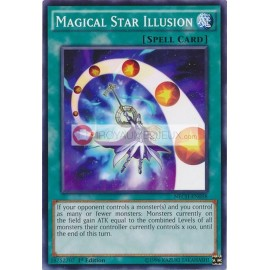NECH-EN058 Magical Star Illusion Common Normal Spell Card