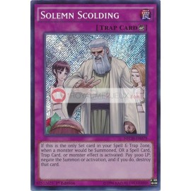 NECH-EN079 Solemn Scolding Secret Rare Counter Trap Card